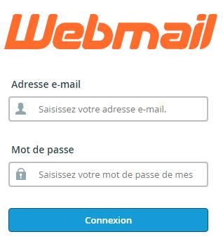 Page de connexion au webmail o2switch