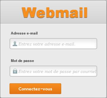 Fenêtre de connexion au webmail