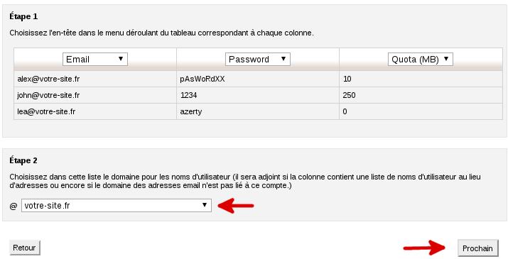 Confirmation visuelle des adresses trouvés lors du parsage du fichier csv