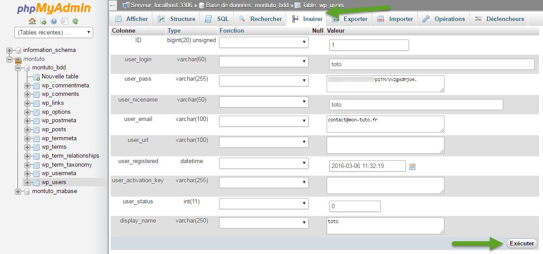 Outil d'édition d'un champs MySQL