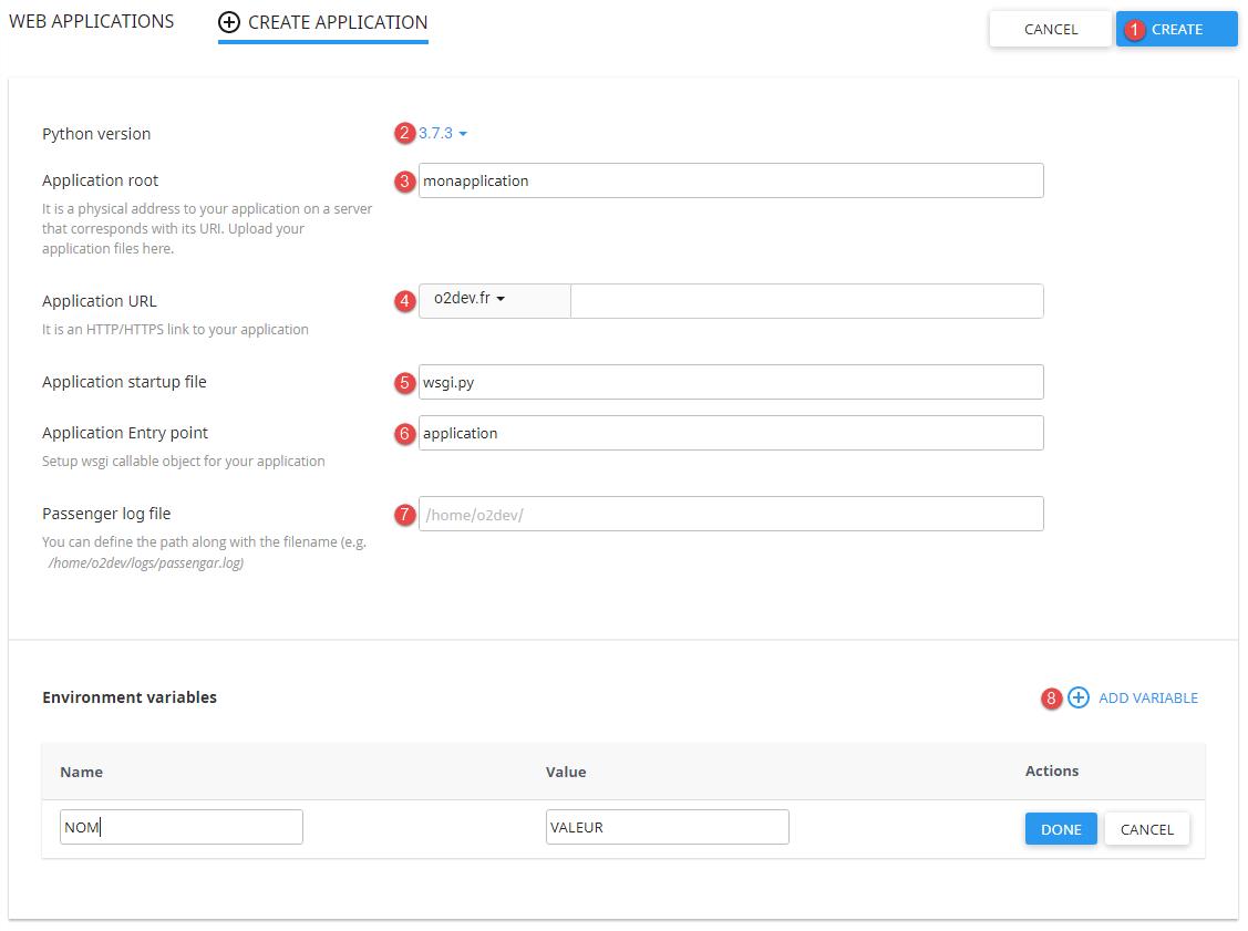 Installer une application Python sur un hébergement o2switch