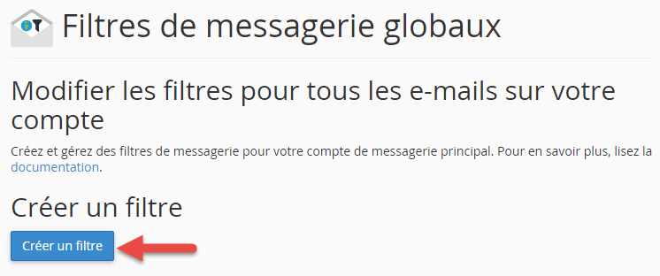 Ajout d'un filtre de messagerie global