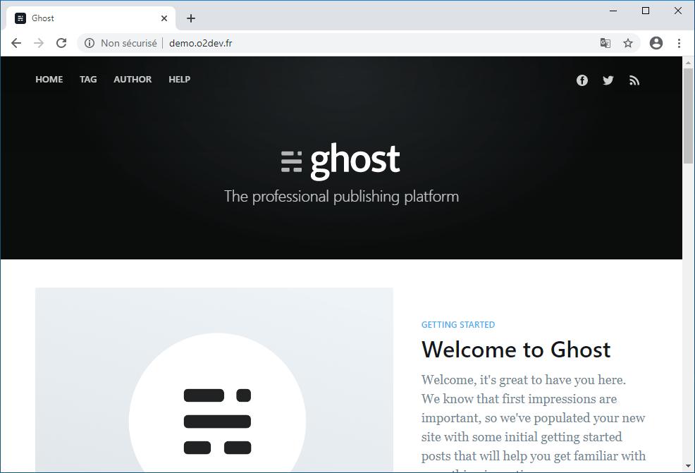 Installation d'une application nodejs o2switch