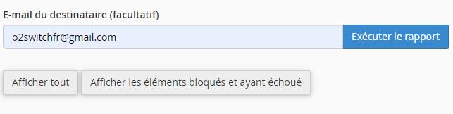 Formulaire de recherche de suivi de mails