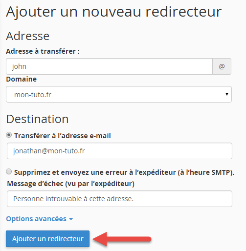 Plusieurs types de redirections email existent