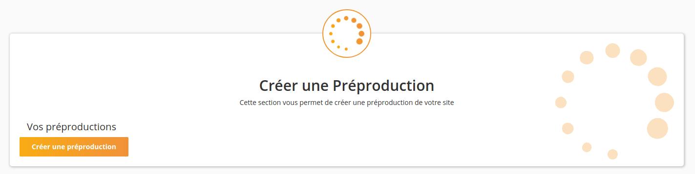 Créer une Préproduction dans WP Tiger